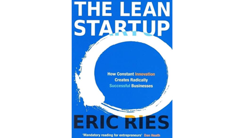 Book cover of The lean startup by eric ries